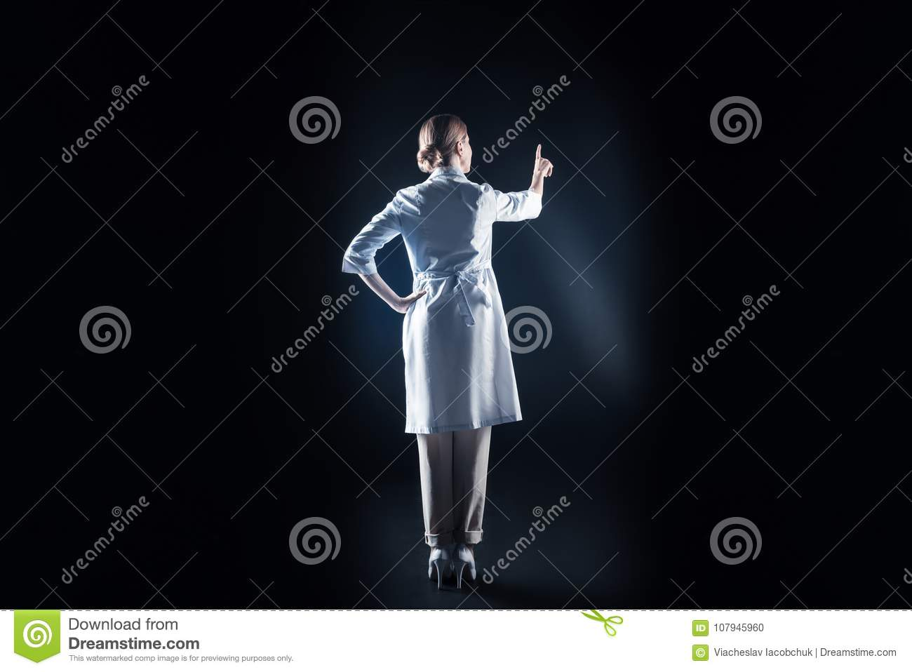 Smart Nice Scientist Being At Work Stock Photo