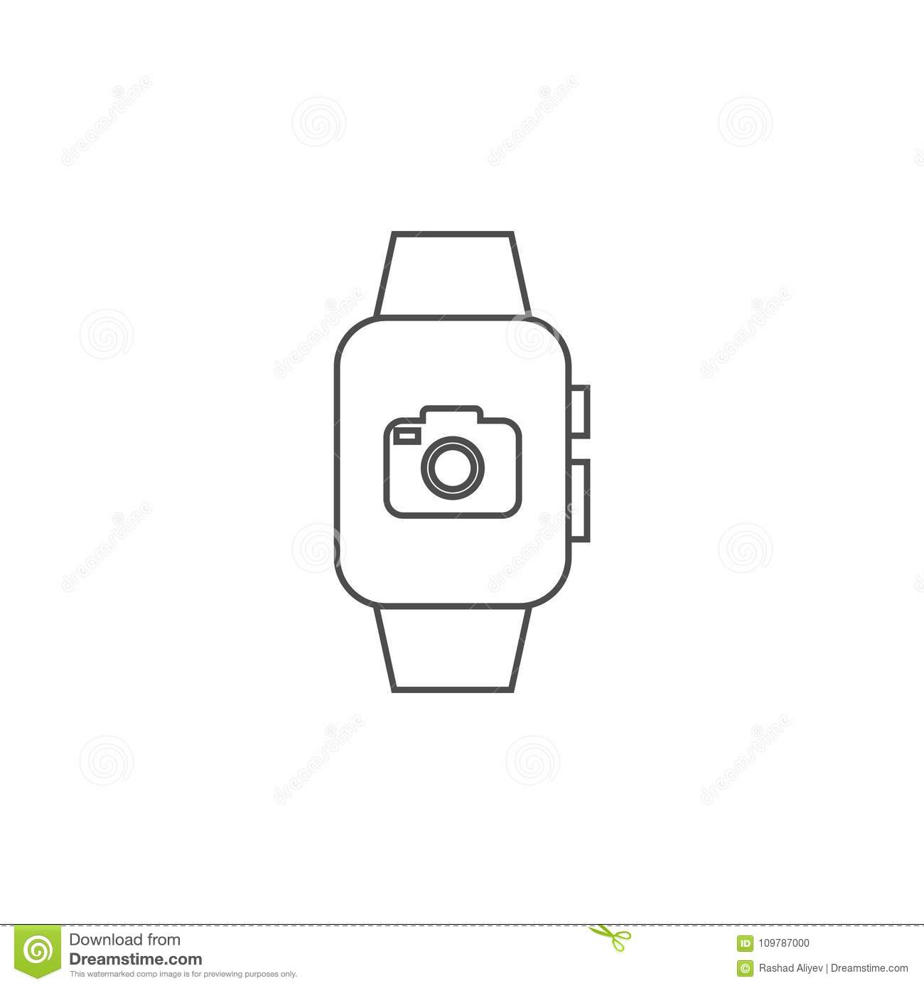 Smart Watch With Camera Icon. Element For Mobile Concept