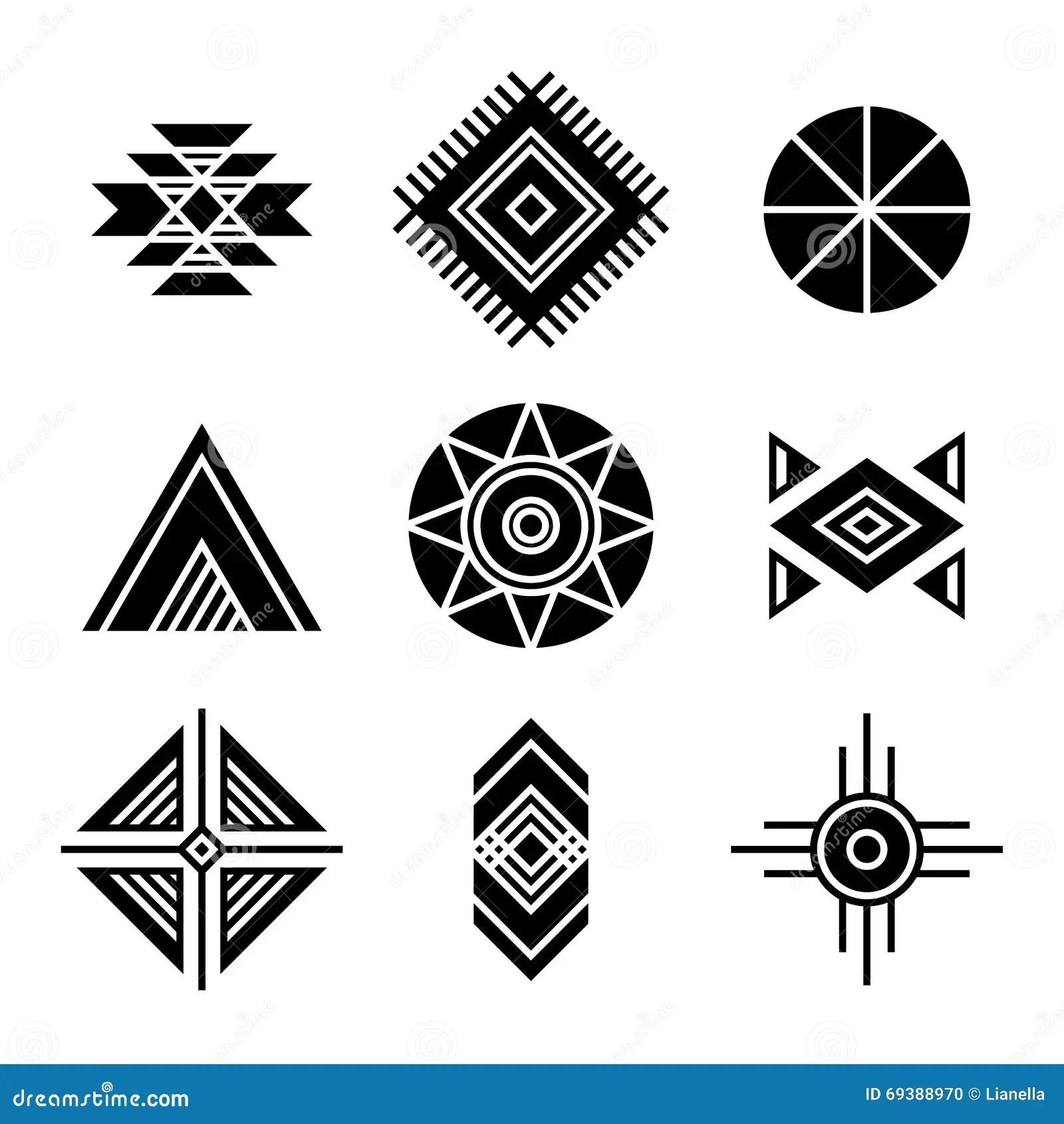Simbolos Tribales De Los Indios Del Nativo Americano