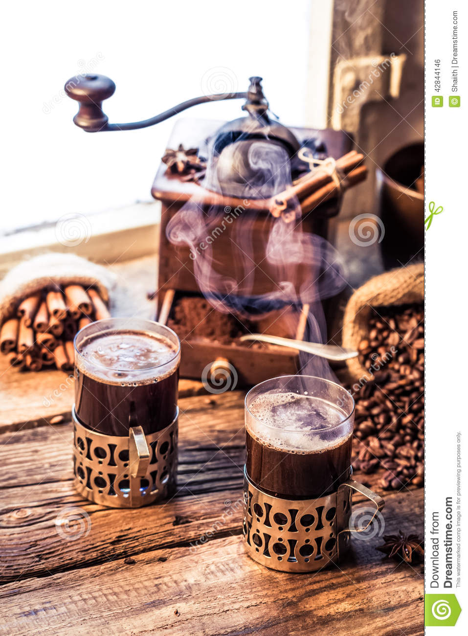 Smell Of Freshly Brewed Coffee Stock Photo - Image of ...