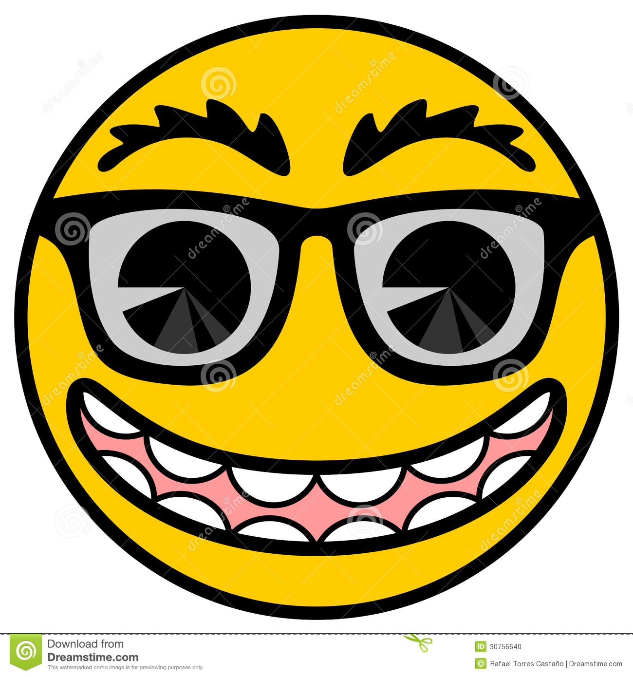 Smile cartoon stock vector. Illustration of laughter - 30756640