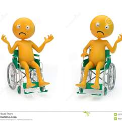 Wheelchair Emoji Diy Burlap Chair Sashes Smiley Characters On A Stock Illustration