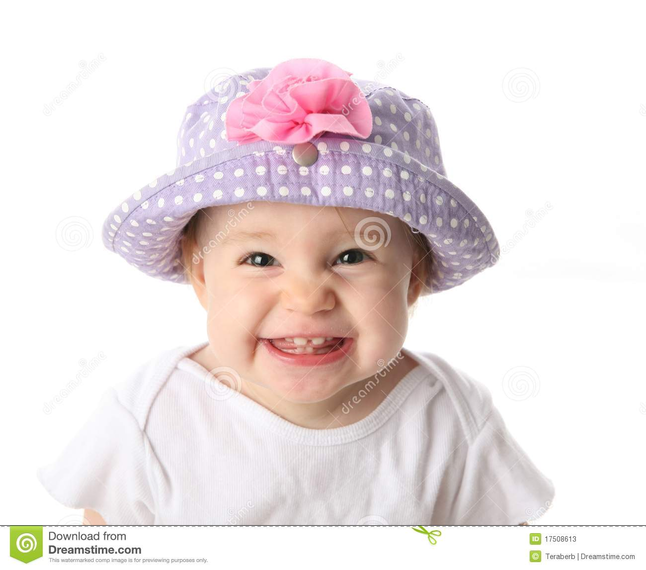 smiling baby with hat stock photos - image: 17508613
