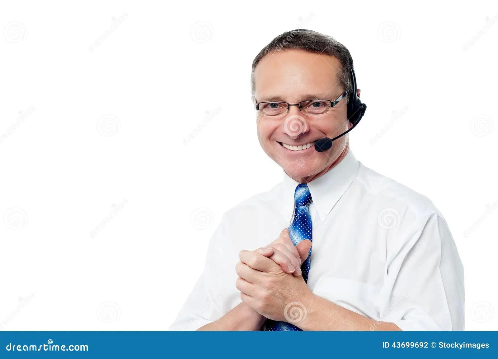 Smiling Customer Support Executive Stock Photo  Image 43699692