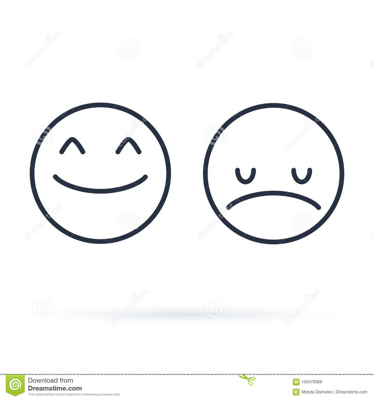 Smiling Face With Smiling Eyes Emoticon Line Icon Outline