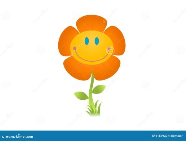 smiling flower illustration stock