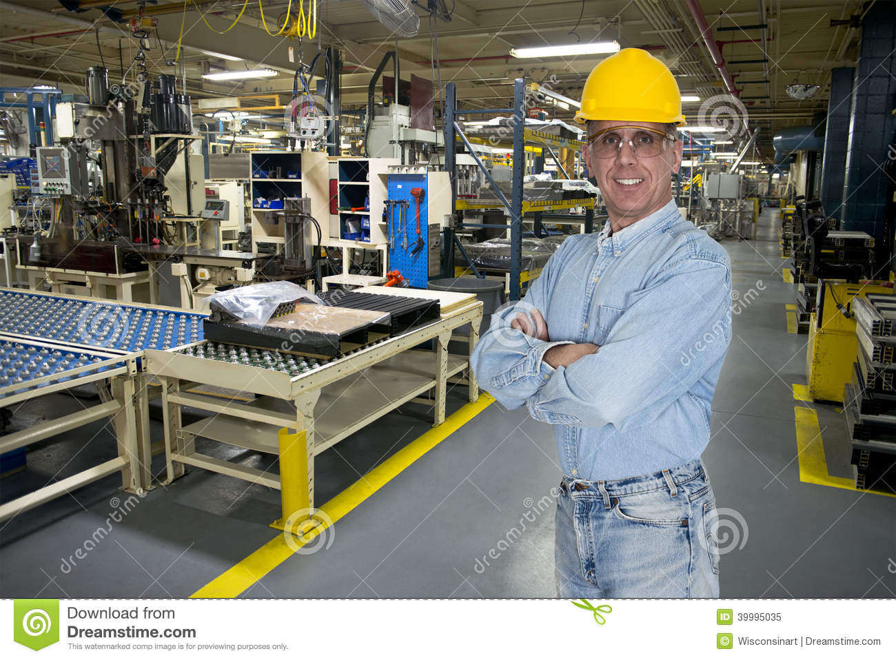 smiling industrial manufacturing factory