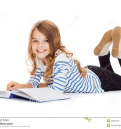 smiling little student girl lying on the floor royalty free stock photo cartoondealer com 35507379 [ 1300 x 989 Pixel ]