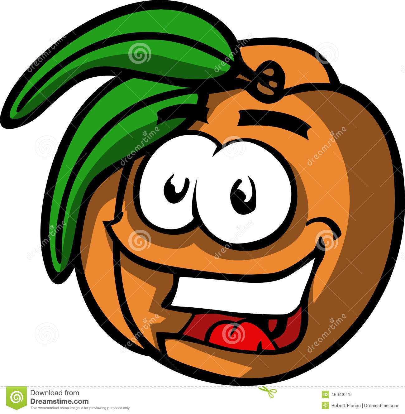 Smiling Peach Stock Vector - Image: 45942279