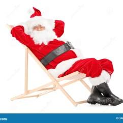 Santa Claus Chair Cheap Adirondack Chairs Smiling On A Beach Looking At Camera