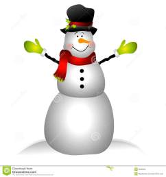 smiling snowman clip art isolated [ 1300 x 1390 Pixel ]