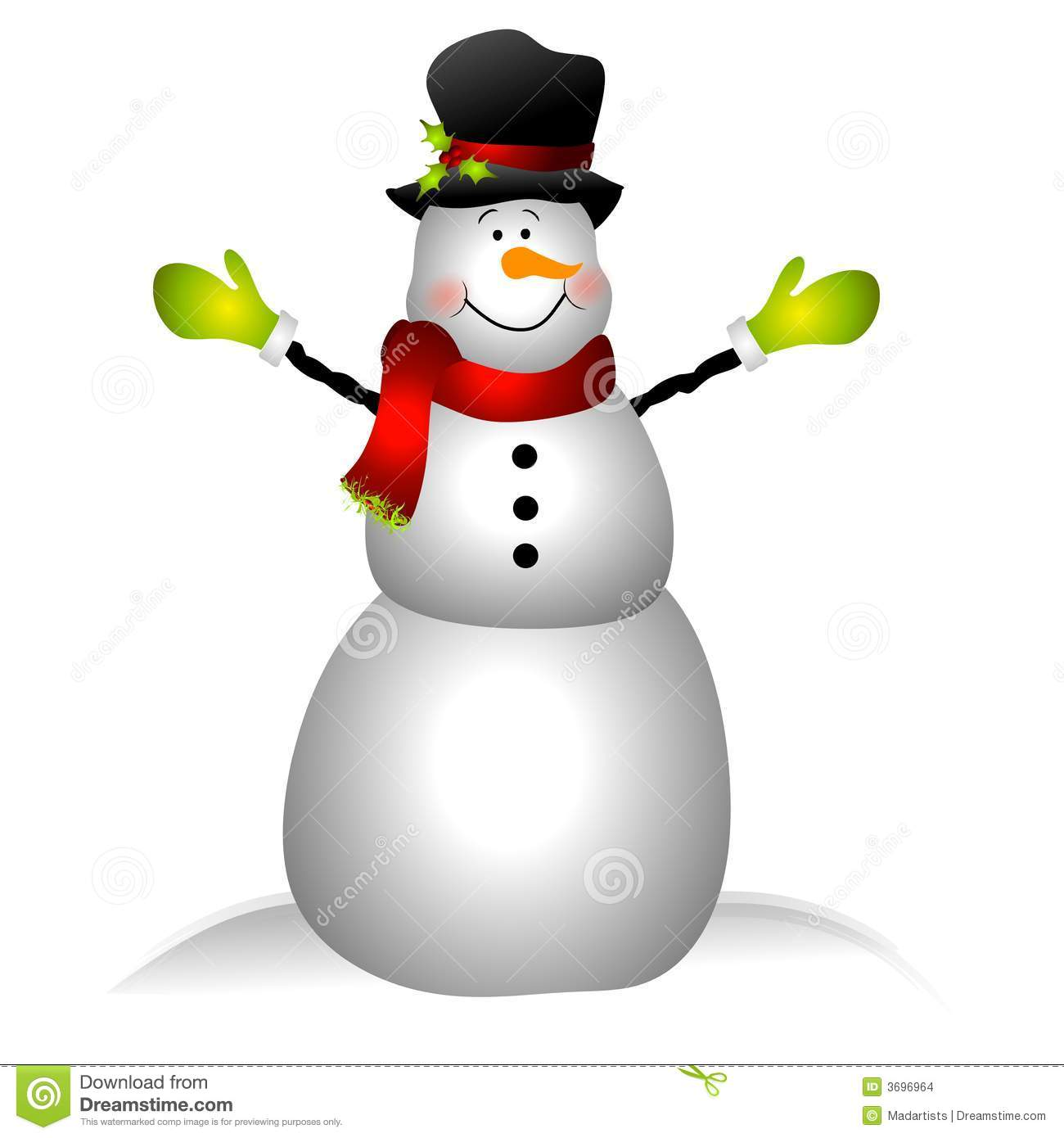 hight resolution of smiling snowman clip art isolated