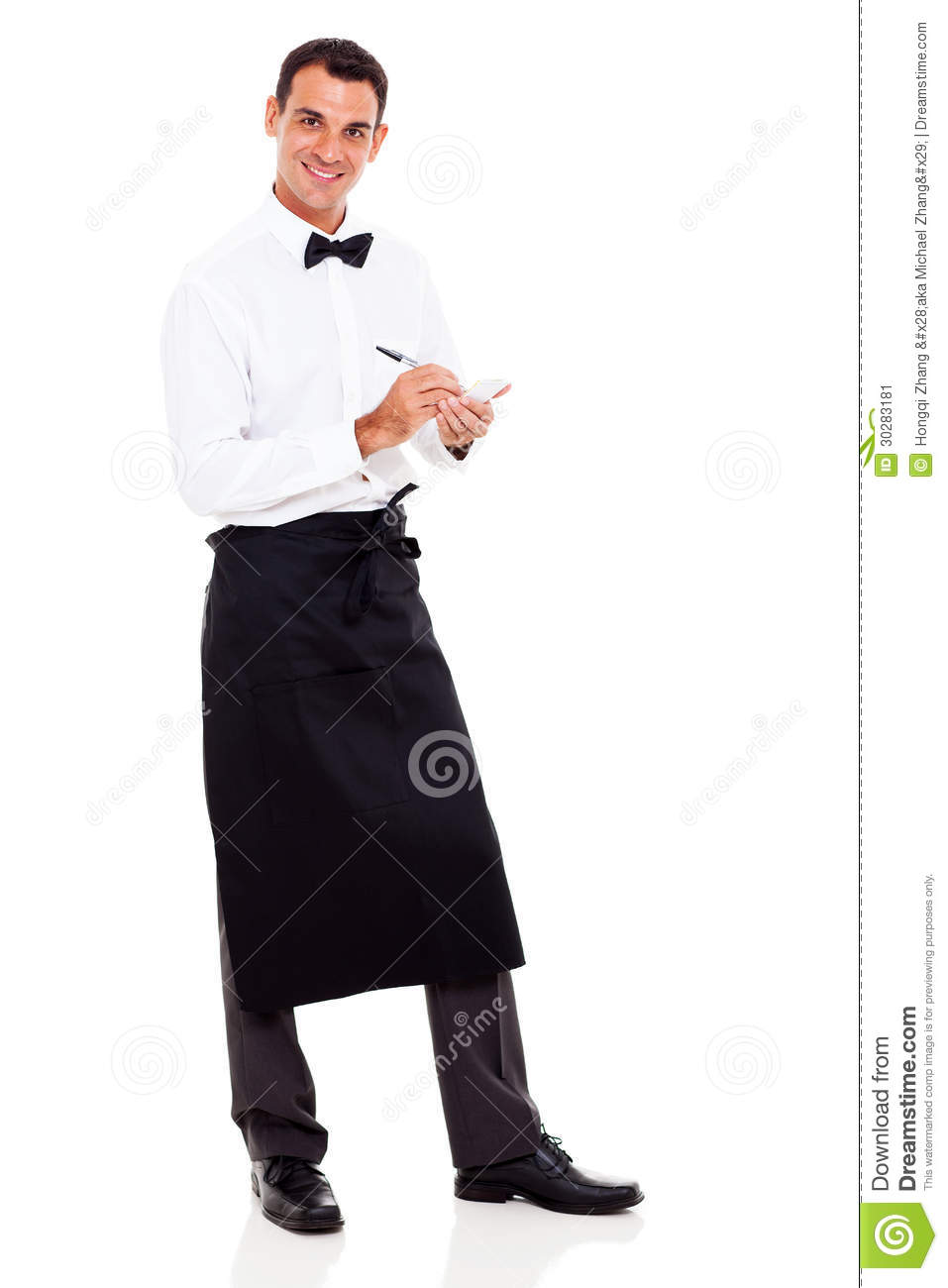 Waiter taking orders stock image Image of industry
