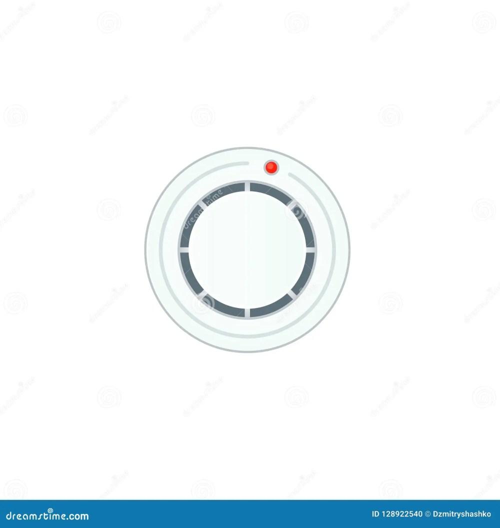 medium resolution of smoke alarm sensor icon clipart image isolated on white background