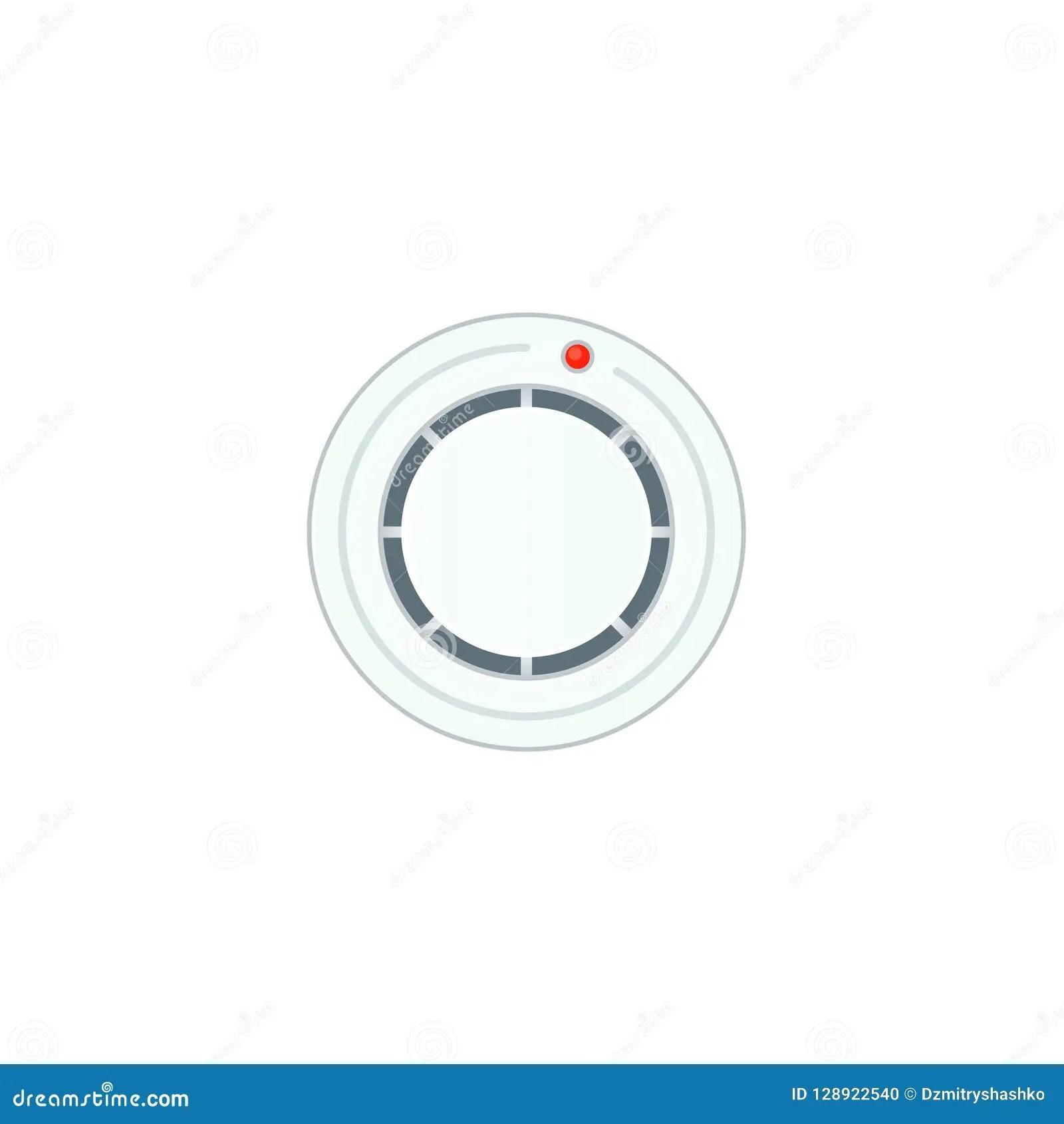 hight resolution of smoke alarm sensor icon clipart image isolated on white background