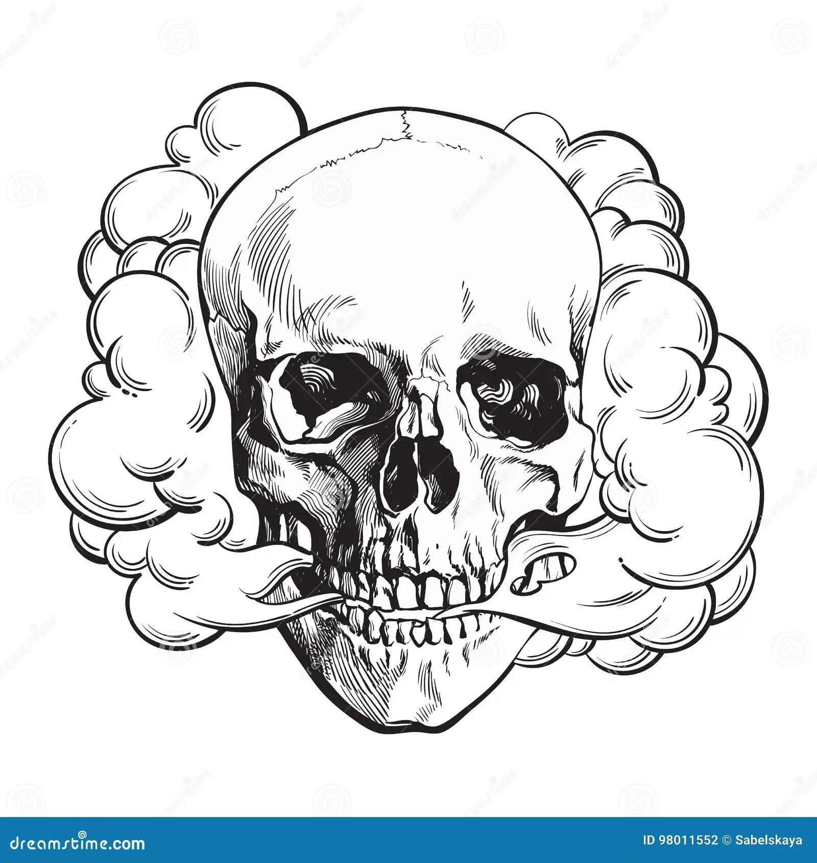 Smoke Coming Out Of Fleshless Skull, Death, Mortal Habit