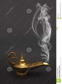 Smoking Genie Lamp Royalty Free Stock Photos - Image: 5013488