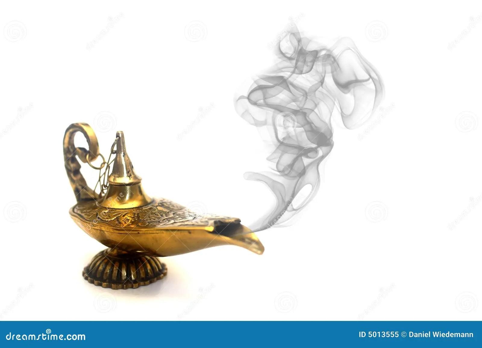 Smoking Genie Lamp stock image. Image of aladin, arabian