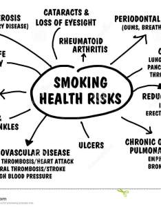 Flow chart of ailments illness and disease caused by smoking also health risks stock illustration chronic rh dreamstime
