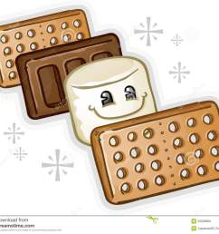 graham crackers clipart smores marshmal  [ 1300 x 1137 Pixel ]