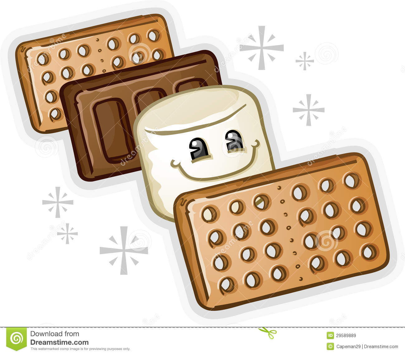 hight resolution of graham crackers clipart smores marshmal