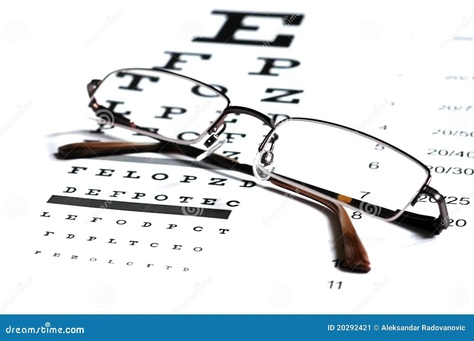 Snellen Eye Chart Test Box 3d Rendering Stock Image