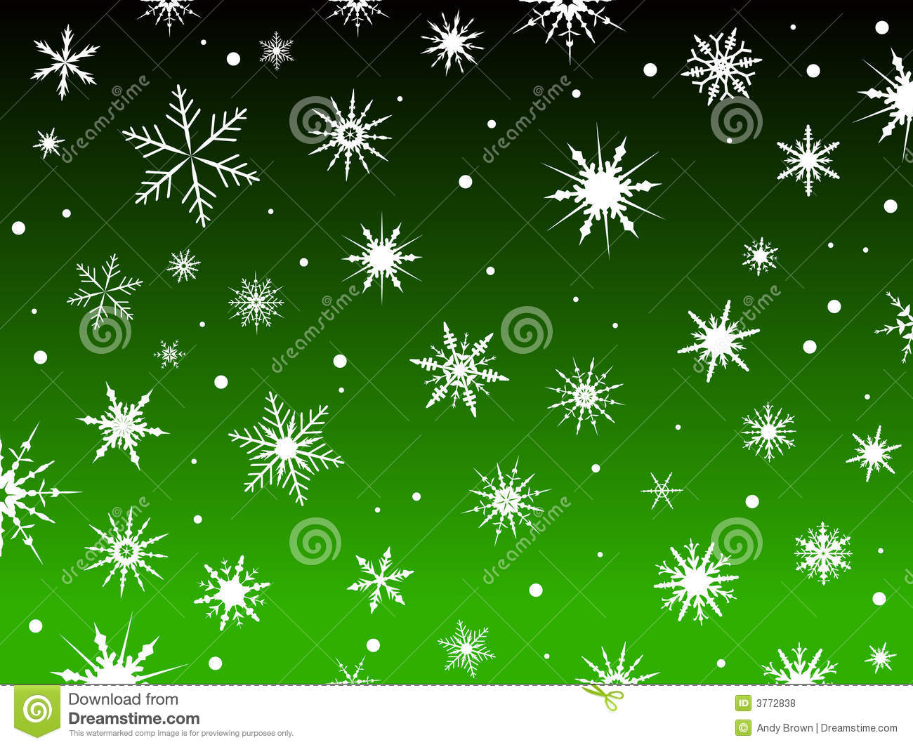 Christmas Snow Falling Wallpaper Snow Border Green Royalty Free Stock Photos Image 3772838