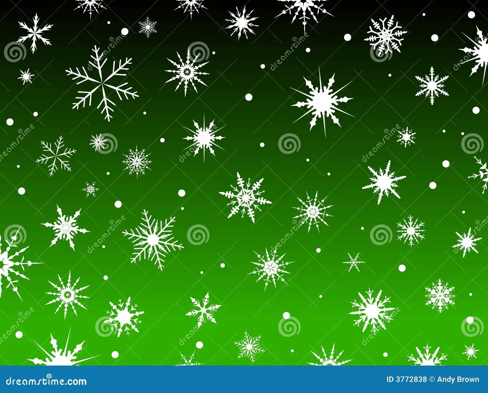 Falling Snow Desktop Wallpaper Snow Border Green Stock Vector Illustration Of Christmas