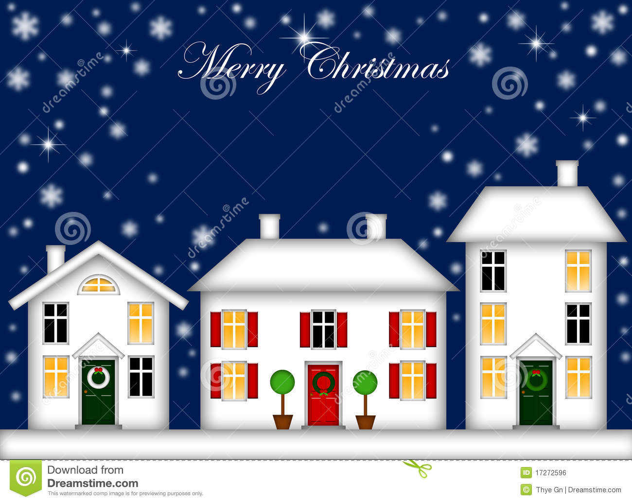 Visualizza altre idee su natale, decorazioni, idee. Snow Covered Houses Christmas Decoration Night Stock Illustration Illustration Of Leaves Abstract 17272596