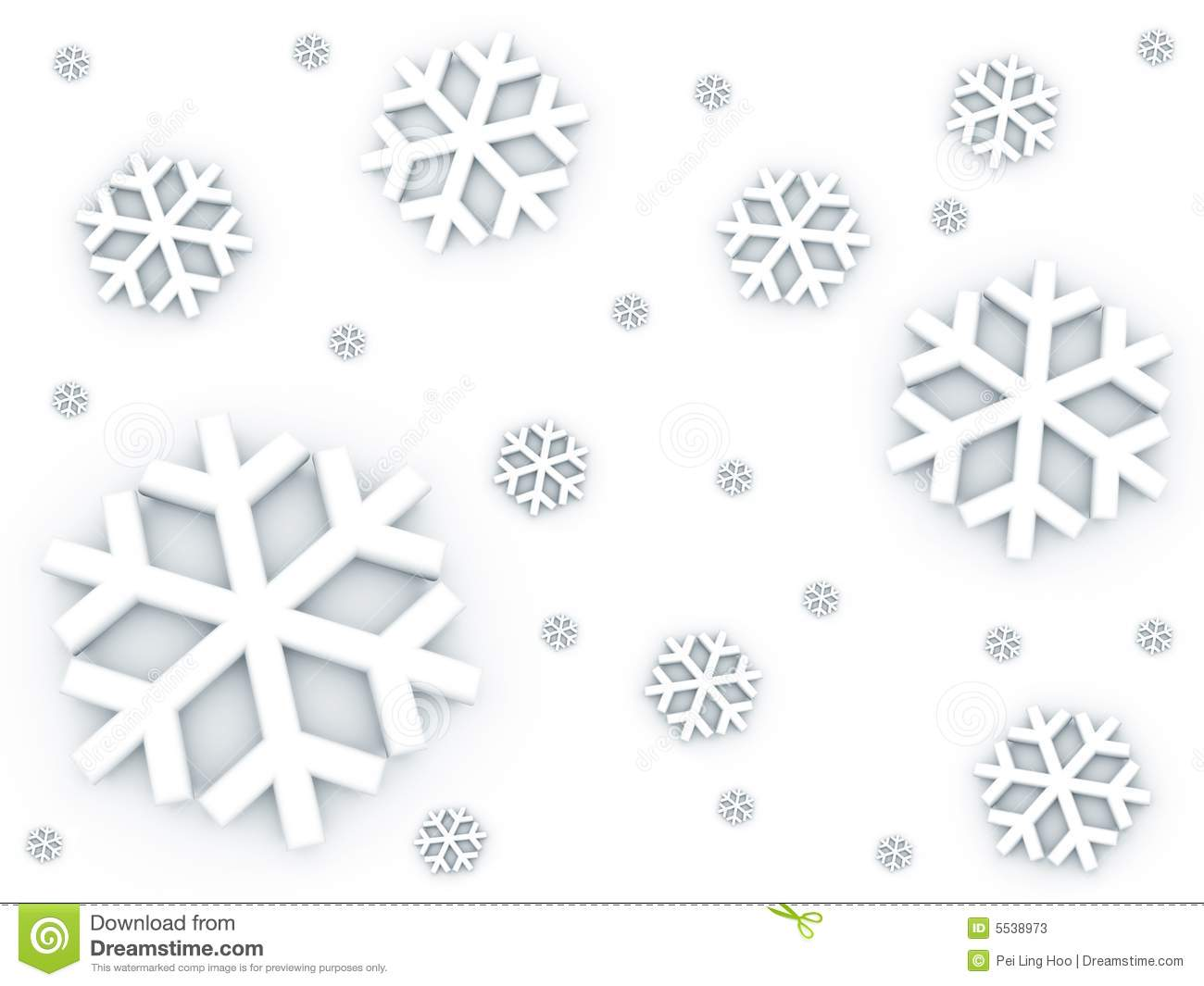 Snow Falling Down Pattern Stock Illustration Illustration