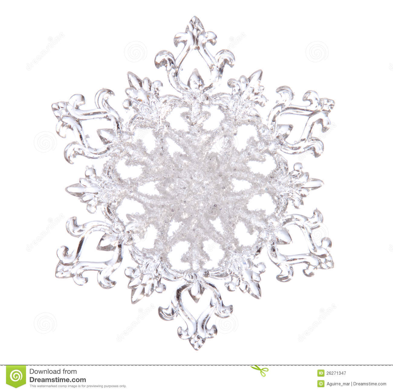 Snowflake Shape Stock Image Image Of Clear Transparent