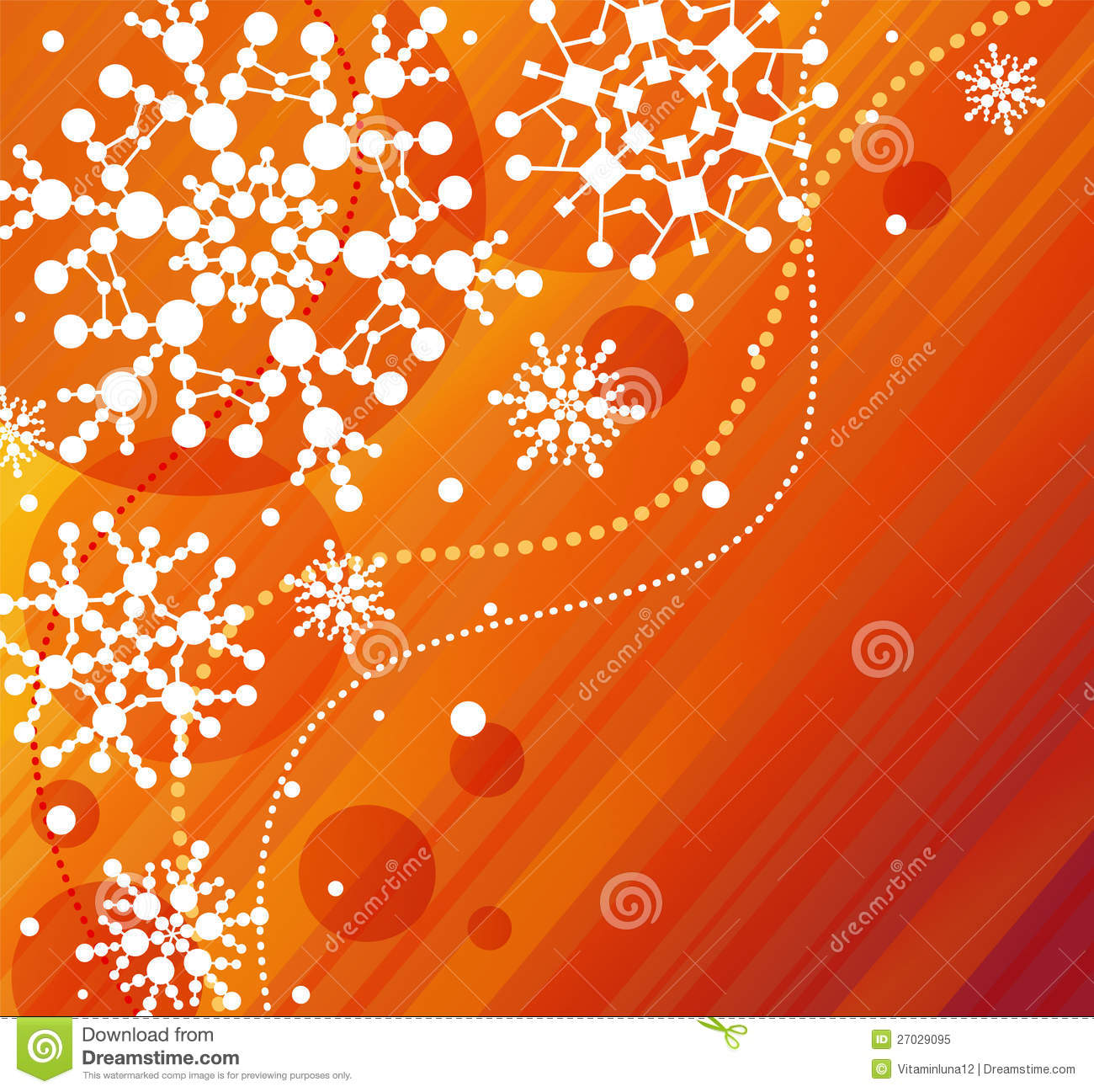 Snowflakes Orange Stock Vector Image Of Frost Snowflake