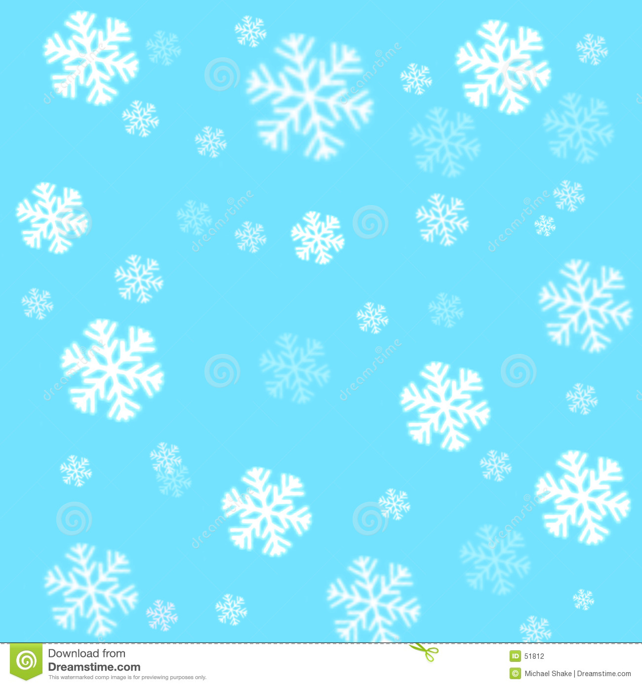 3d Snow Falling Wallpaper Snowflakes On A Sky Blue Background Stock Photography