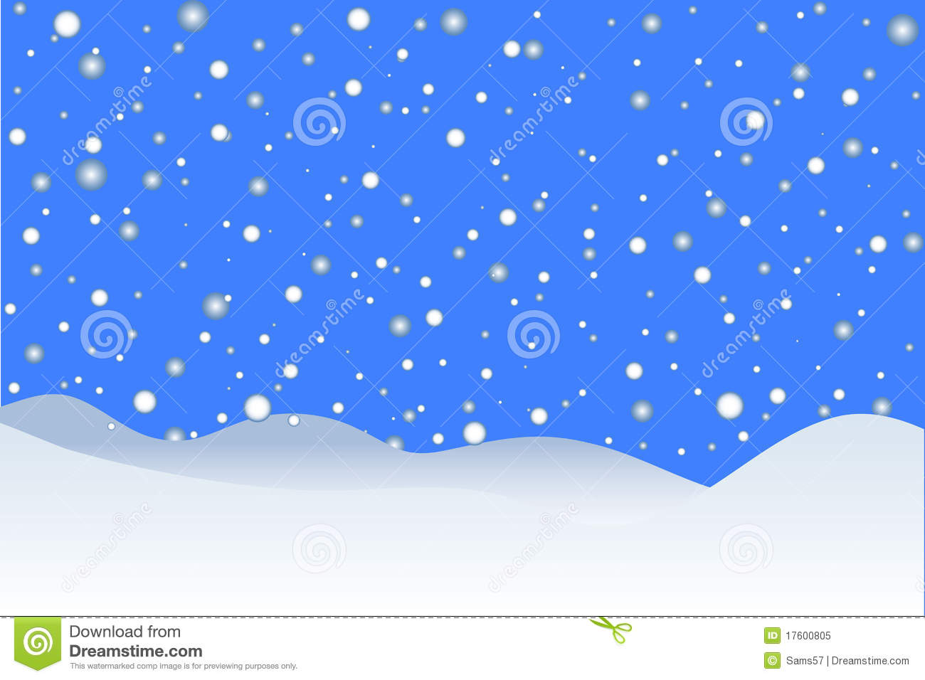Wallpaper Border Falling Off Snowing Winter Background Stock Vector Image Of Beauty