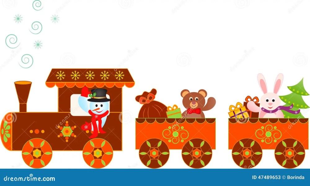 medium resolution of illustration of lively gingerbread train clipart snowman christmas presents polar express train