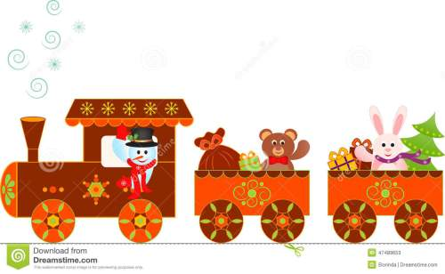 small resolution of illustration of lively gingerbread train clipart snowman christmas presents polar express train