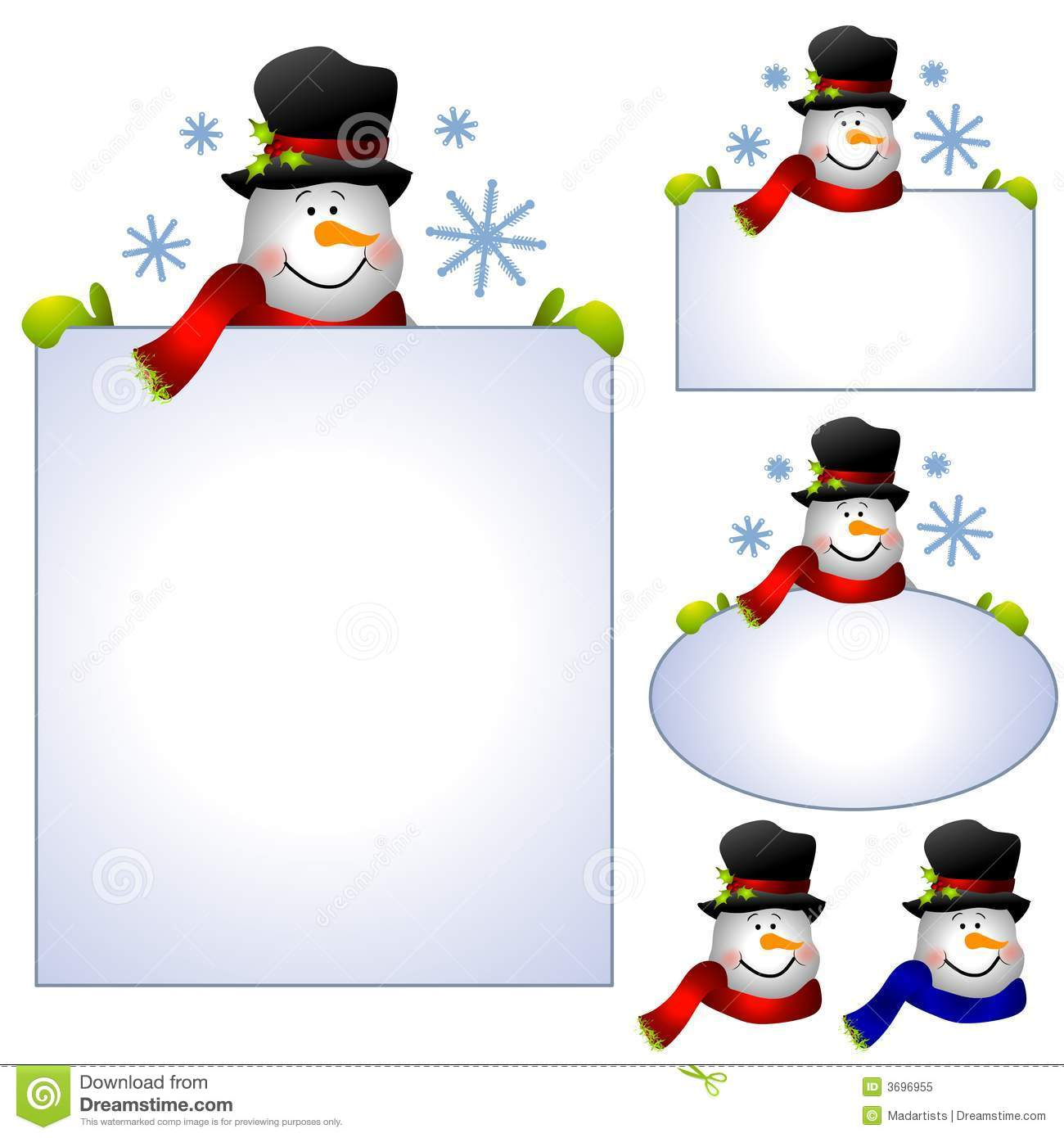 hight resolution of snowman clip art banners and borders