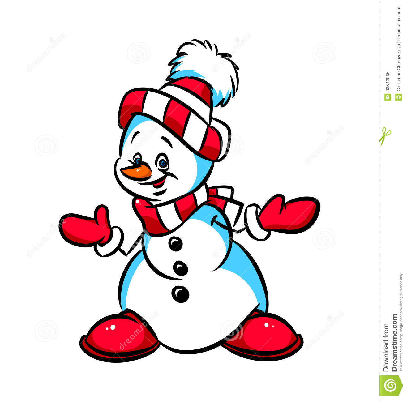 Christmas Snowman Cartoon Royalty Free Stock Image Auto Electrical Yale Glp100mj Wiring Diagram