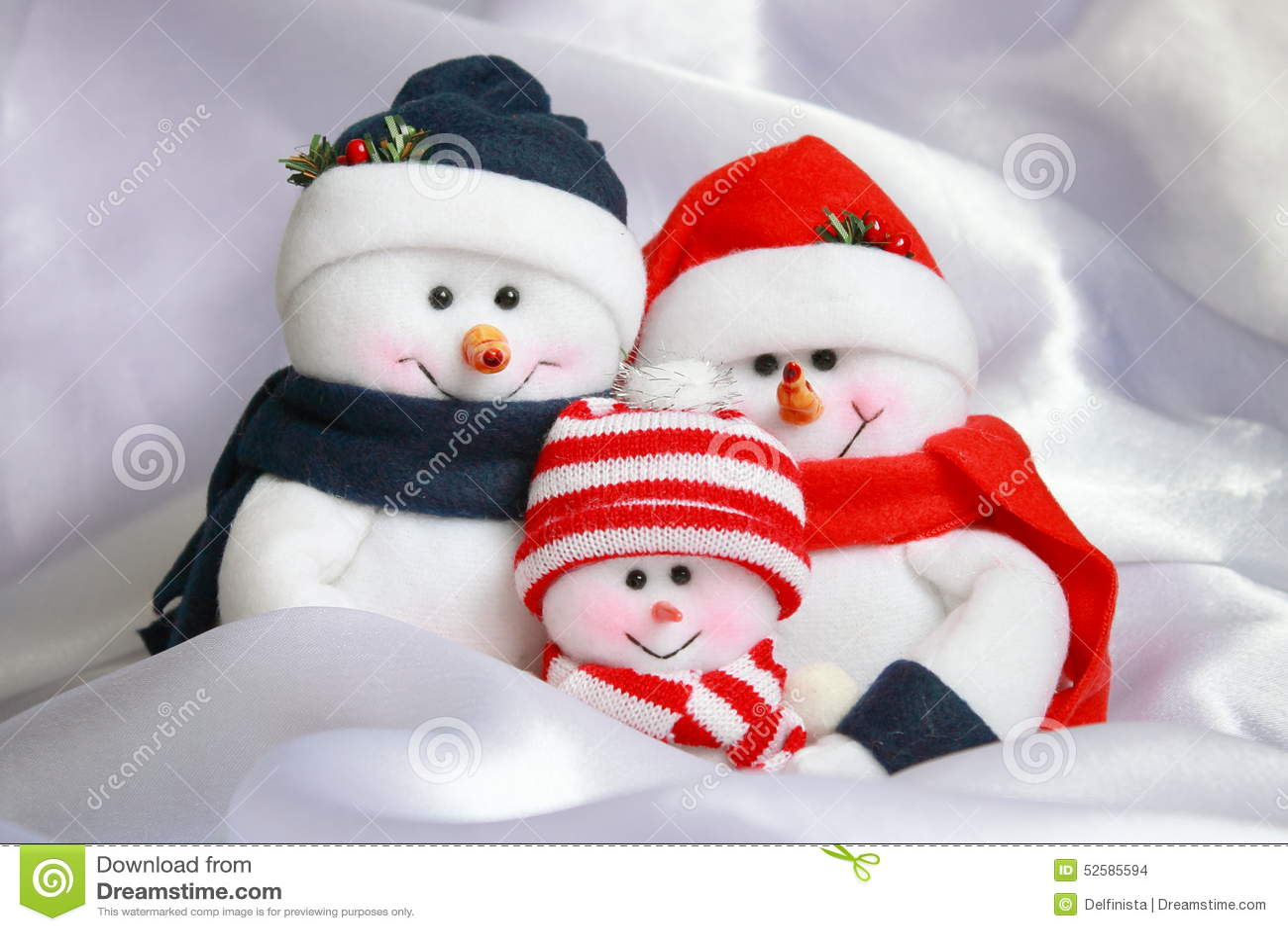 Snowman Family Christmas Stock Photo Stock Photo Image