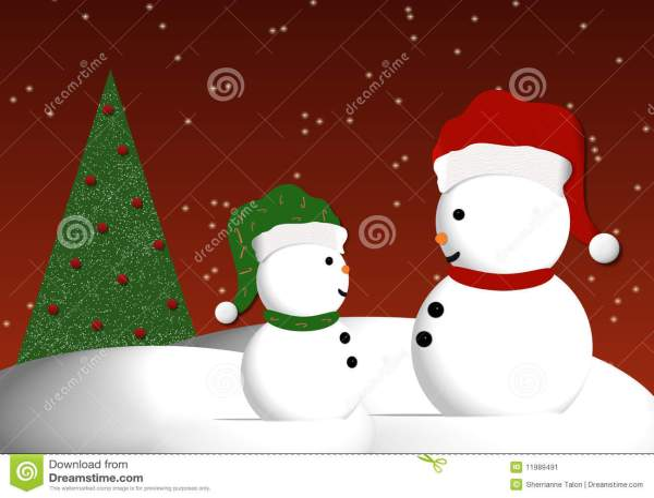 Snowmen Illustration Stock - 11989491