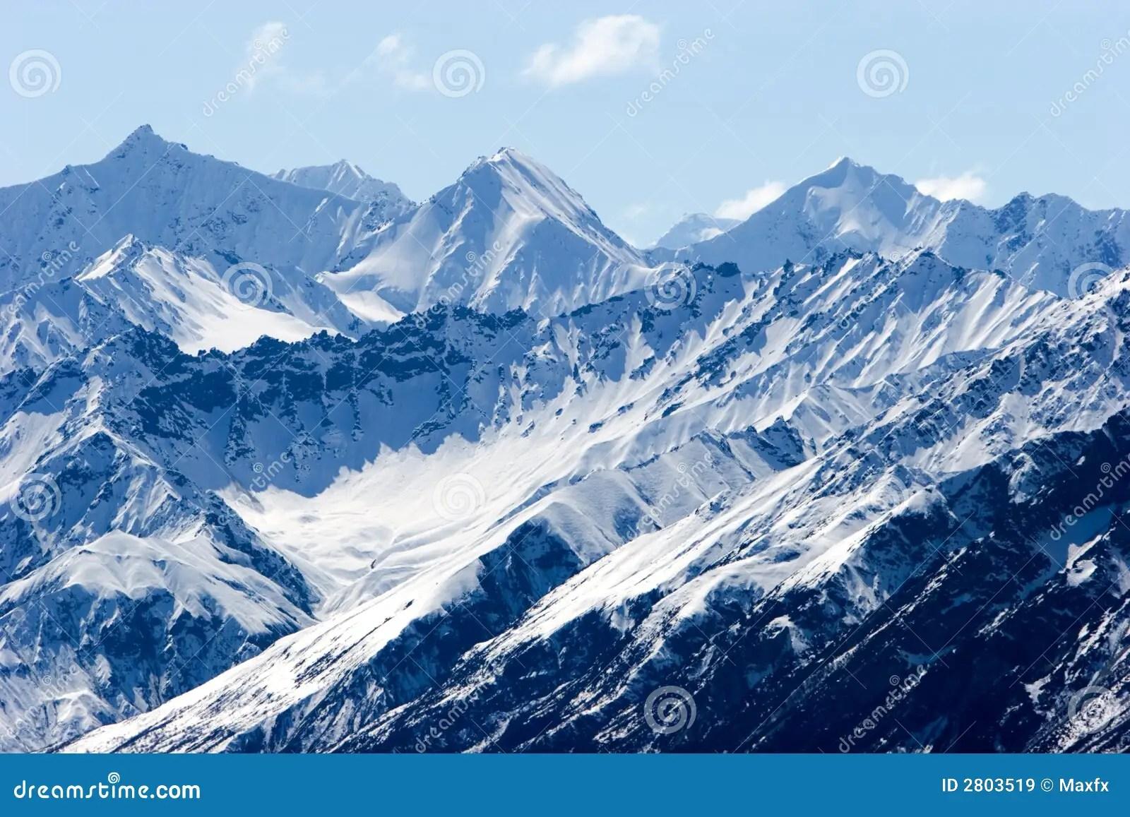 snowy alaska mountain peaks