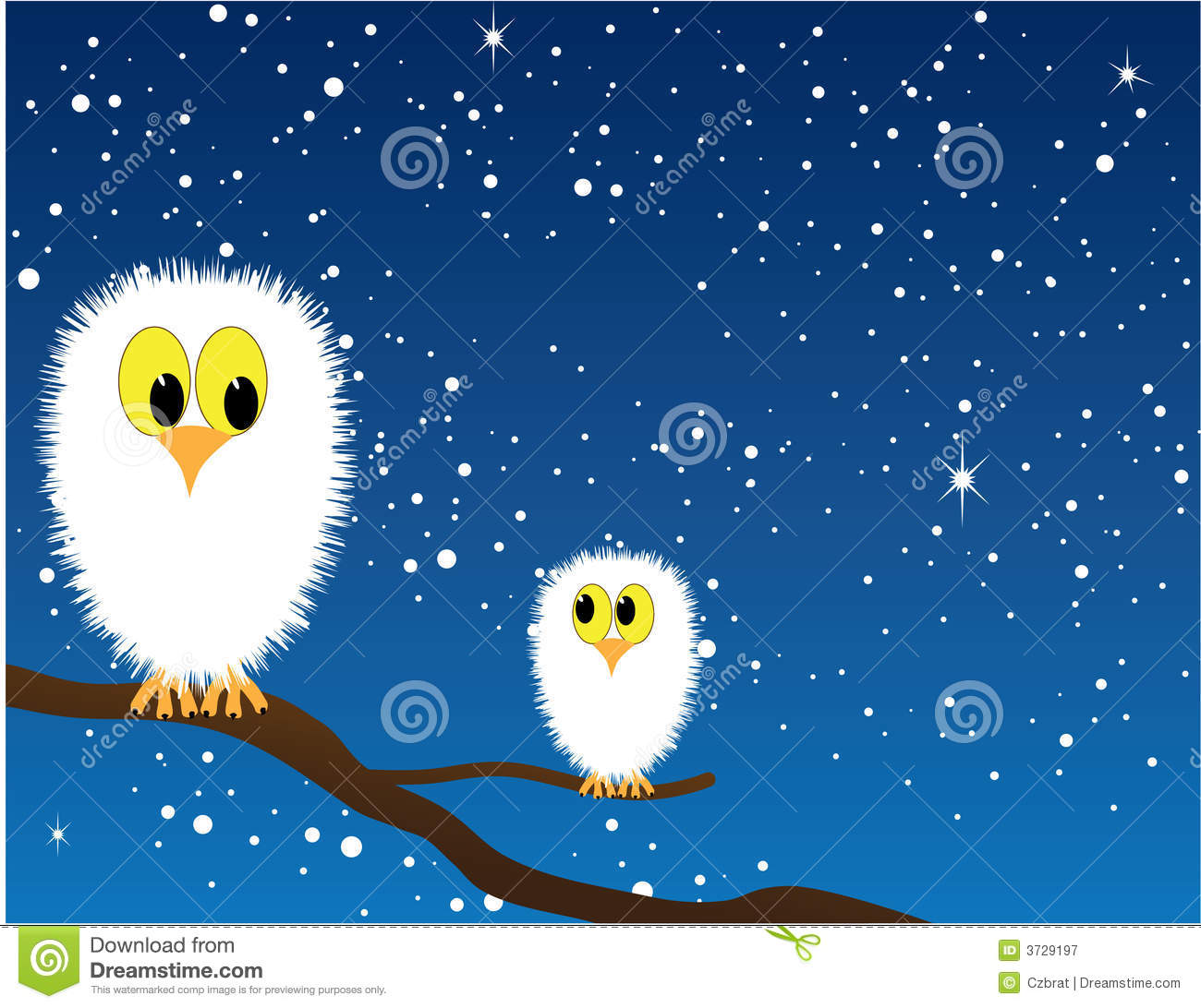 Free Download Of Christmas Wallpaper With Snow Falling Snowy Owls Stock Vector Image Of Cartoon Birds Branch