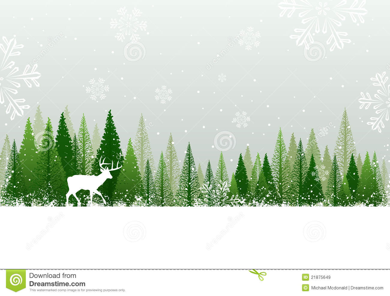 hight resolution of snowy winter forest background