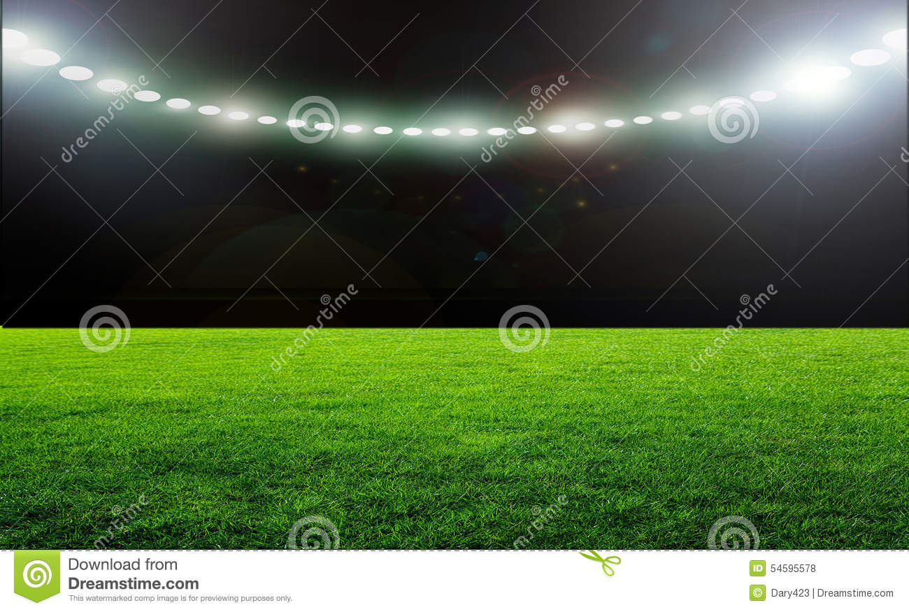 football field with lamp royalty