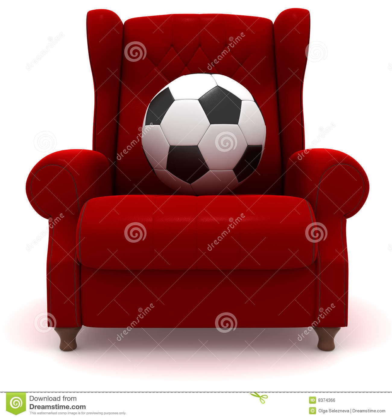 chair ball game swivel mat soccer in easy royalty free stock image