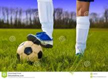 Foot and Soccer Ball