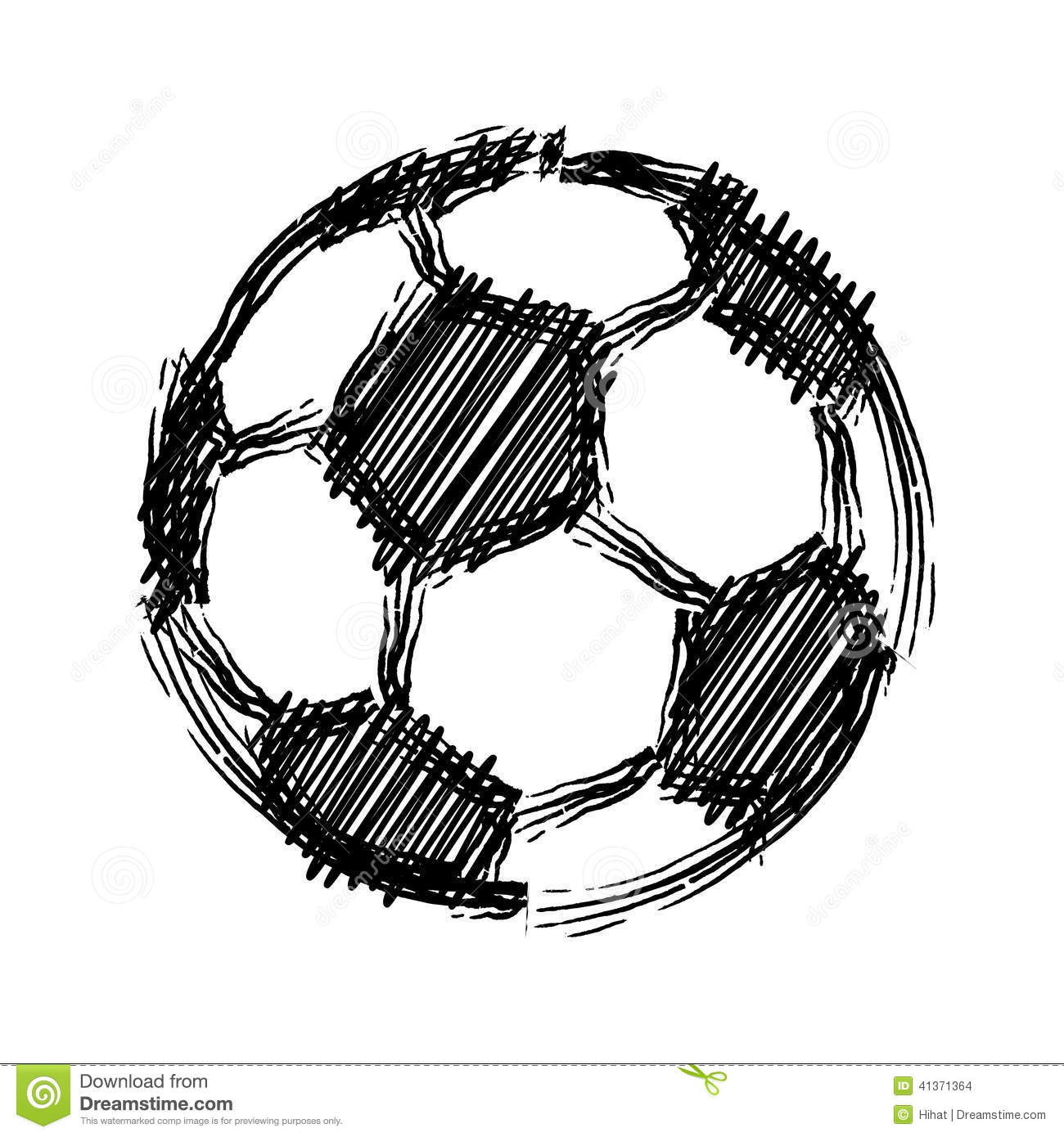 Soccer Ball Football Background Vector Eps8 Stock