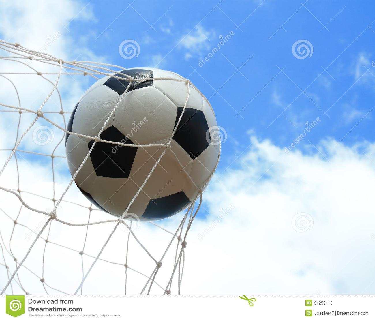 Soccer Ball In Goal Stock Image Image Of Excercise Game