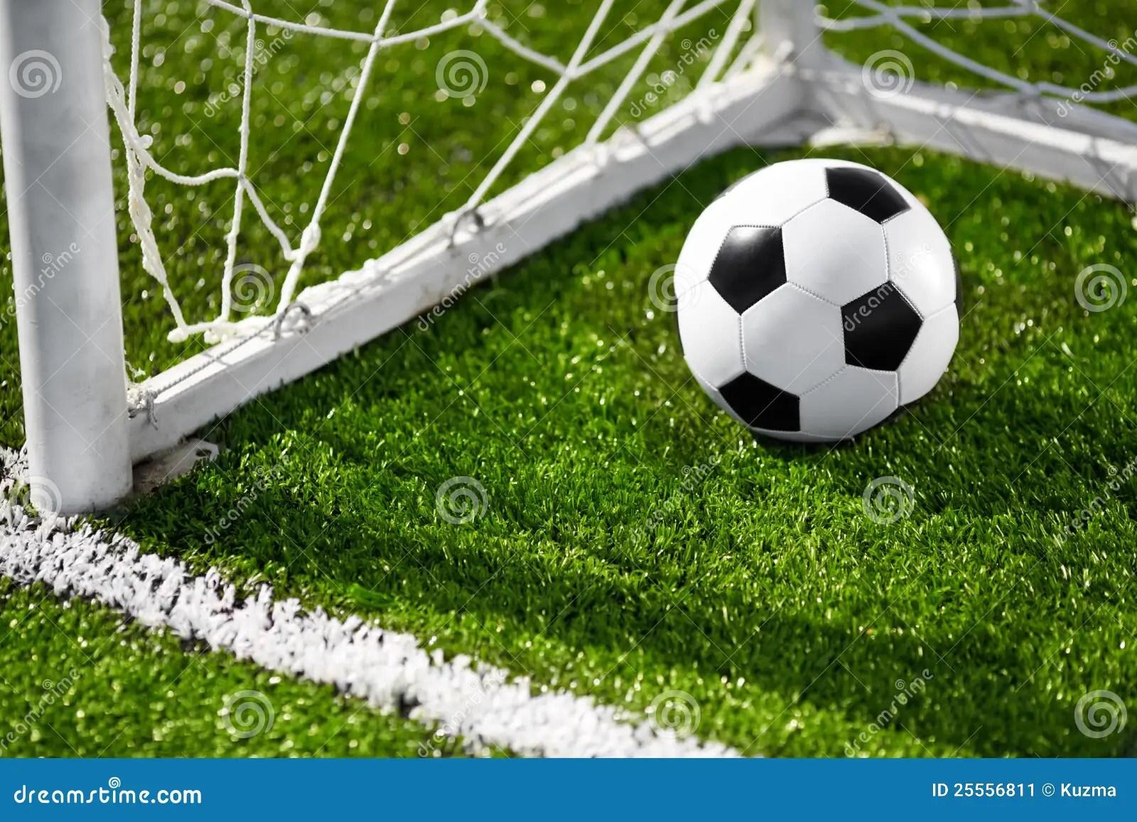 Soccer Ball And Goal Net Stock Image Image Of Soccer