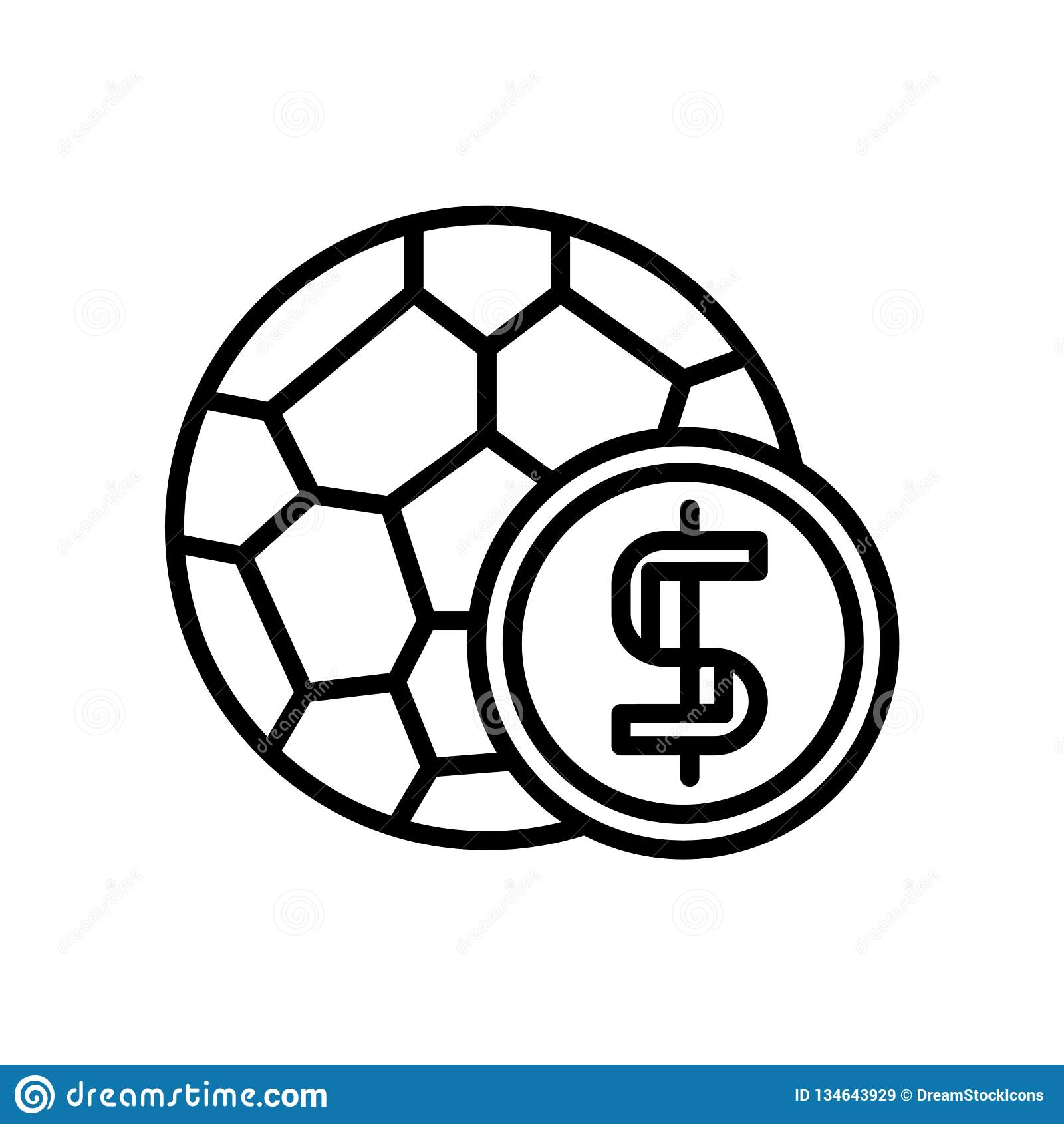 Soccer Ball Icon Vector Isolated On White Background